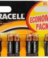 1 5 volt batterijen duracell 8 pak