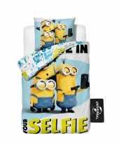 1 persoons dekbedovertrek van minions selfie