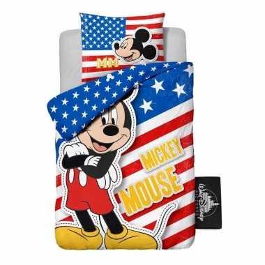 1 persoons dekbedovertrek van mickey mouse usa
