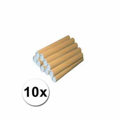 10 hobby materiaal kokers van karton 31x4 cm