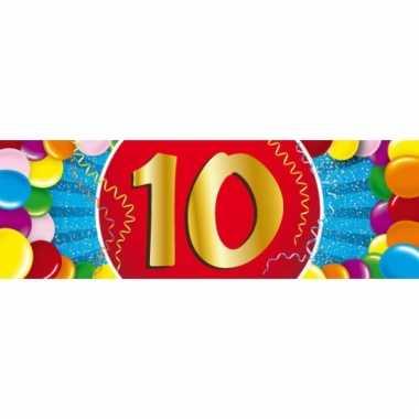 10 jaar versiering sticker