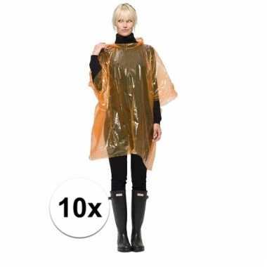 10 oranje regen ponchos