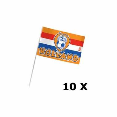 10 x zwaaivlaggen holland