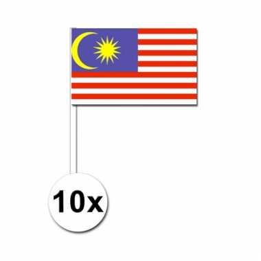 10 zaaivlaggetjes maleise vlag