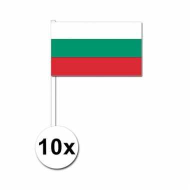 10 zwaaivlaggetjes bulgaarse vlag
