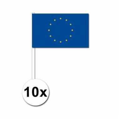 10 zwaaivlaggetjes europese vlag