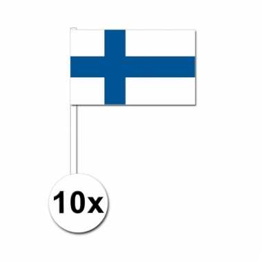 10 zwaaivlaggetjes finse vlag