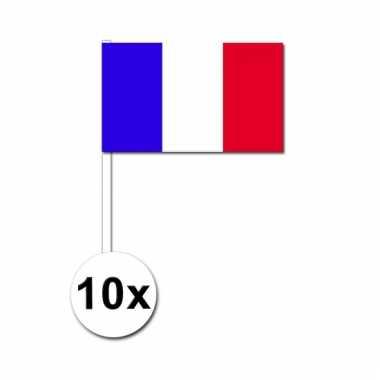 10 zwaaivlaggetjes franse vlag