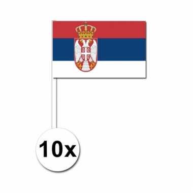 10 zwaaivlaggetjes servische vlag