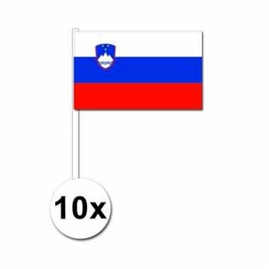 10 zwaaivlaggetjes sloveneense vlag