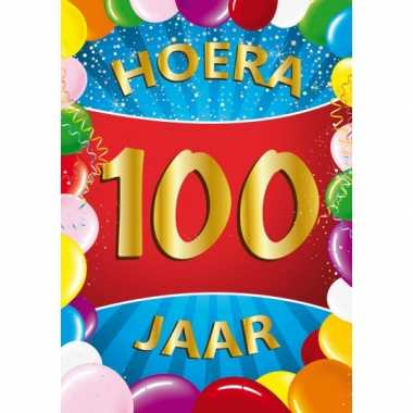 100 jaar thema mega deurposter