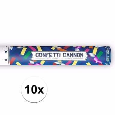 10x confetti knaller metallic kleuren 40 cm