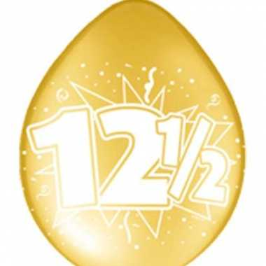 12,5 jaar jubileum ballon set 8 st.