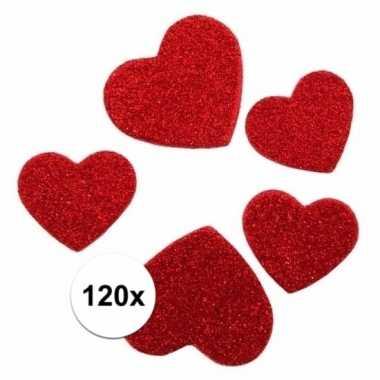 120 stickertjes in de vorm van hartjes