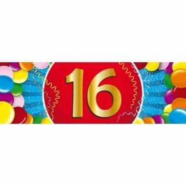 16 jaar versiering sticker