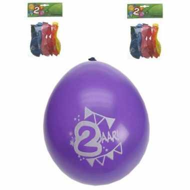 2 jarige ballonnen 8 stuks