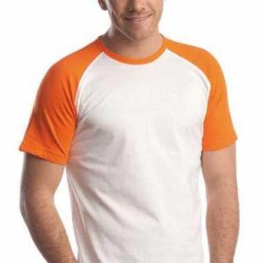 2 kleuren oranje/wit t-shirts
