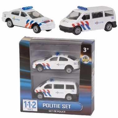 2 stuks politie auto's die-cast