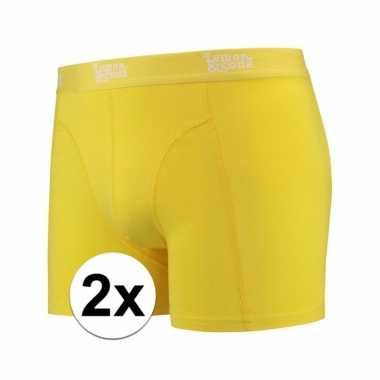2 x mannen boxers geel gekleurd katoen pakket lemon and soda