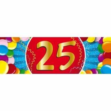 25 jaar versiering sticker