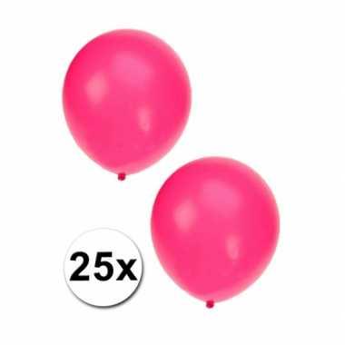 25x fluor roze feest ballonnen