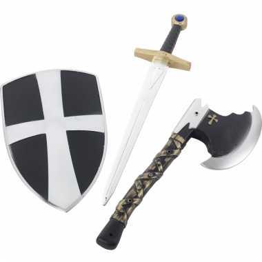 3-delige plastic ridder wapens set