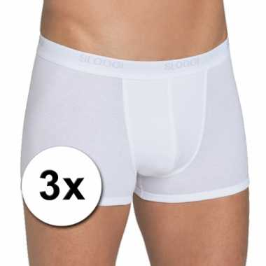 3 heren sloggi boxer shorts wit