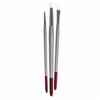 3 nylon witte penselen voor textielverf