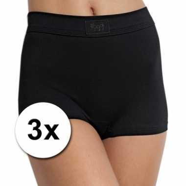 3 zwarte hoge shorts voor dames