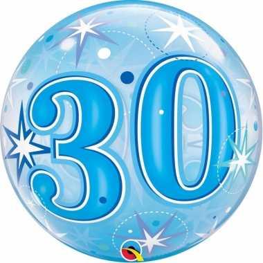 30 jaar folieballon 55 cm met helium