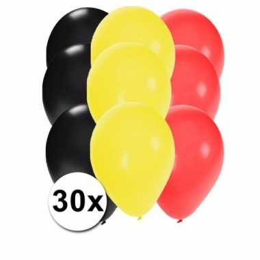 30 stuks ballonnen kleuren belgie