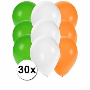 30 stuks ballonnen kleuren ierland