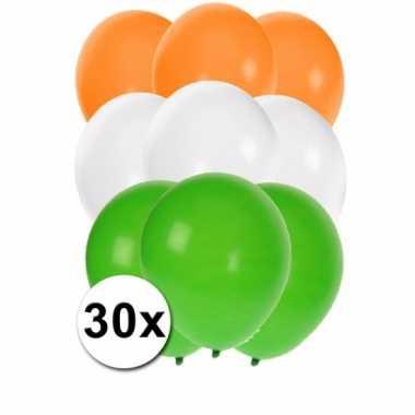 30 stuks ballonnen kleuren india