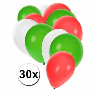 30 stuks ballonnen kleuren iran