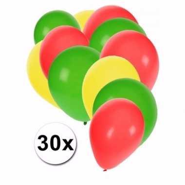 30 stuks ballonnen kleuren kameroen