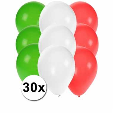 30 stuks ballonnen kleuren mexico