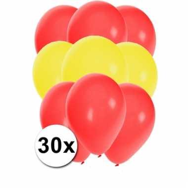 30 stuks ballonnen kleuren spanje