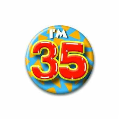 35 jaar button