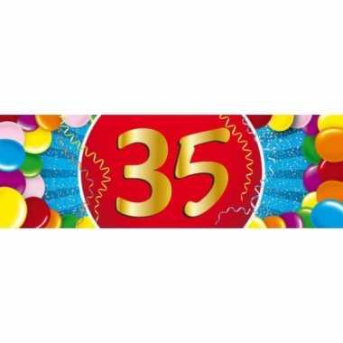 35 jaar versiering sticker