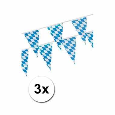 3x beieren versiering vlaggenlijn 4 m