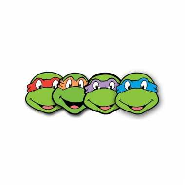 4 ninja turtles maskertjes