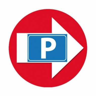 4 stuks rode pijl en p logo sticker