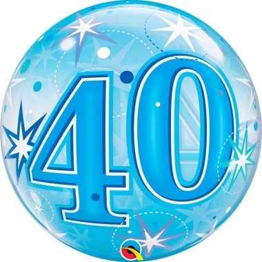 40 jaar folieballon 55 cm met helium