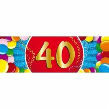 40 jaar versiering sticker