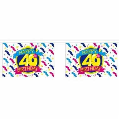 40e verjaardag slinger deluxe