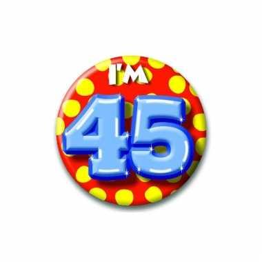 45 jaar button