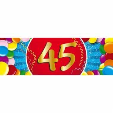 45 jaar versiering sticker