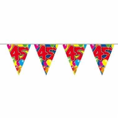 45e verjaardag slingers / vlaggenlijnen 10m