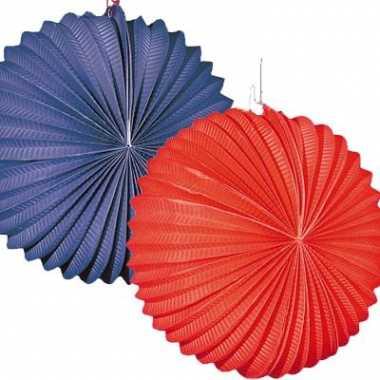 4x lampionnen rood/blauw