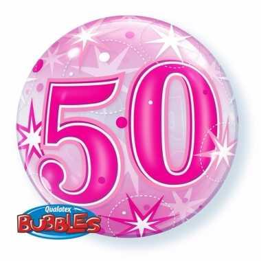 50 jaar folieballon 55 cm met helium